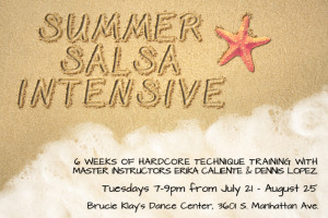 Summer Salsa Intensive flyer